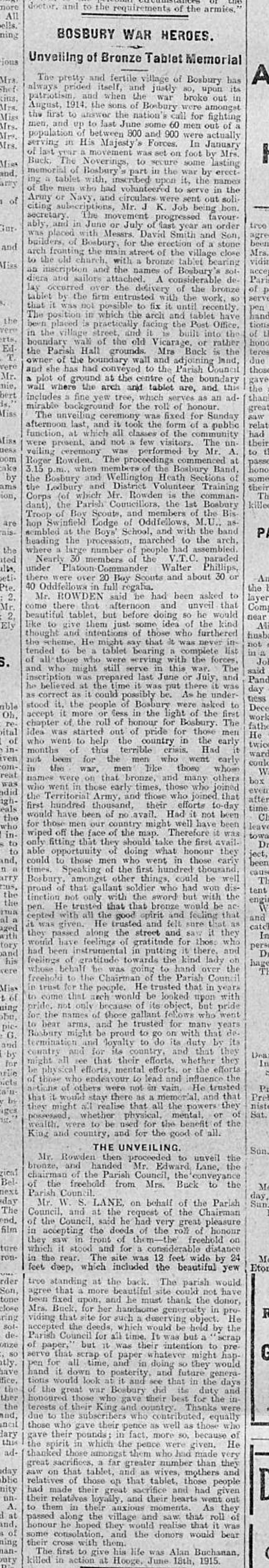 Hereford Times April 1916