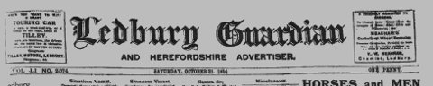Original Ledbury Guardian masthead from 1914