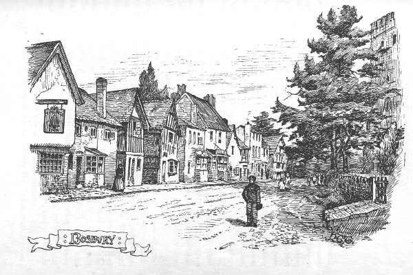 Sketch of Bosbury Main Street