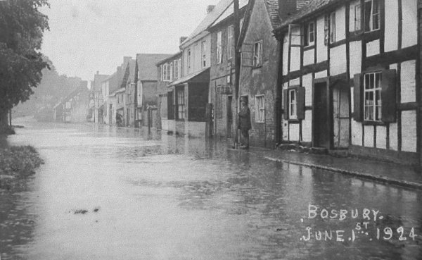 Bosbury Main Street flooded in 1924
