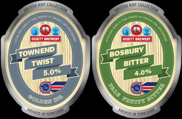 Ossett Brewery beer labels