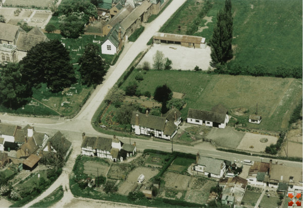 Aerial view of the Dog farmhouse