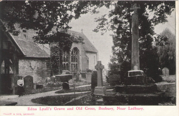 Bosbury Edna Lyall's Grave and Old Cross