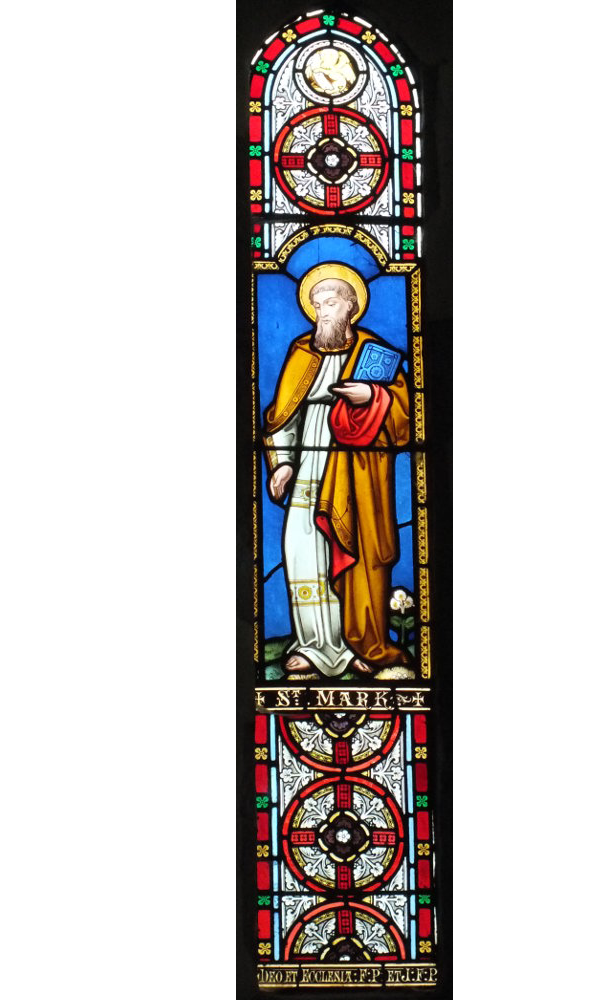 Bosbury church stained glass window in the south wall of the chancel